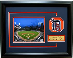 MLB Detroit Tigers Comerica Park Photo Frame with Team Patch and Nameplate by CGI Sports Memories
