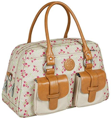 Lassig Vintage Metro Diaper Bag, Rosebud Fairytales