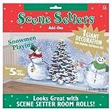 Snowmen Playing Giant Scene Setter Decoration