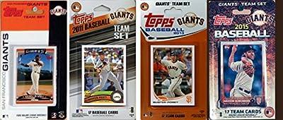 MLB San Francisco Giants Men's 4 Different Licensed Trading Card Team Sets