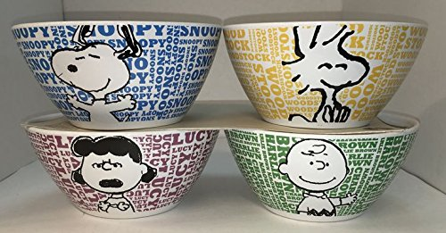 Peanuts® 4 Piece Ceramic Soup & Cereal Bowl Set (Snoopy, Woodstock, Charlie Brown & Lucy) Review