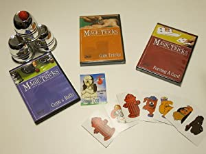 Amazing Easy to Learn Magic Tricks: Cups and Balls with DVD, Coin Tricks DVD, Forcing a Card DVD, Emerson and West's The Shaggy Dog Tale Packet Trick