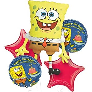 SpongeBob Balloon Bouquet