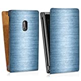 Down flip case leather cover shell for Shiny Metal - Indigo Lumia 800 - design bag Downflip white - Nokia