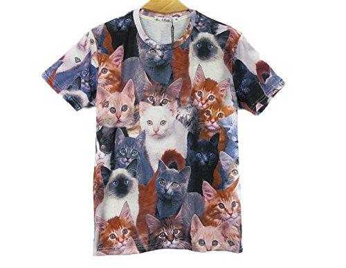 【 16種類 4サイズ 】 3D プリント アート Tシャツ 前衛芸術 美術 クレイジー おもしろ XXLサイズ 【 タイプ014 】 SD-ARTTT-14-XXL