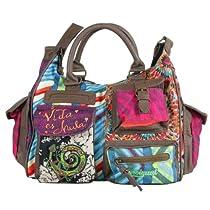 Hot Sale Desigual Handbags Bols Bruselas 31X5052 Shoulder Bag,Verde Aturquesado,One Size