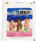 Diaperbuds Vacuum Sealed Premium Disposable Diapers, Size 3, 18 Count (Pack of 4)