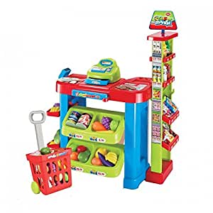 Oypla childrens kids supermarket shop grocery pretend toy for Kitchen set toys amazon