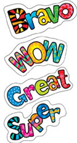 Positive Words Poppin Patterns Stickers -- Case of 16