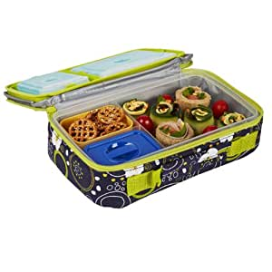 fit fresh kids bento lunch kit with insulated bag and ice packs cherry. Black Bedroom Furniture Sets. Home Design Ideas