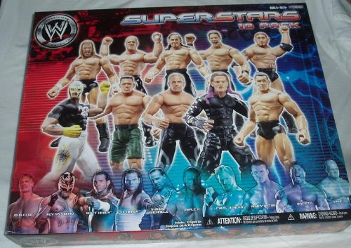 WWE World Wrestling Entertainment Superstars 10 pack - Randy Orton -  Kane - Matt Hardy - Chris Jericho - Triple H - Rey Mysterio - John Cena - Shawn Michaels - Jeff Hardy - Batista -This is for sale to U.K. buyers only