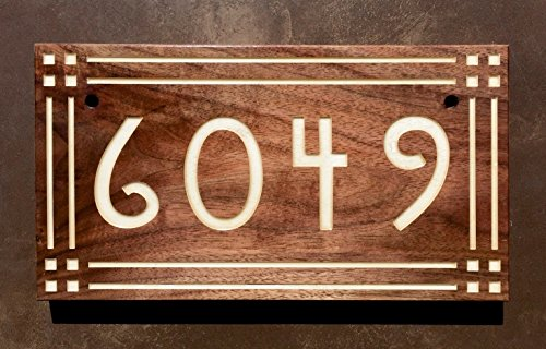 Craftsman / Mission Style Address Sign (Craftsman Address Numbers compare prices)