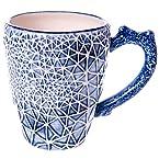 Stoneware Coral Mug