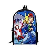 MeMoreCool Pokemon Series Unisex School Backpack Japanese Anime Pikachu Cartoon Casual/Travel Rucksack Student Backpack/Book Bag