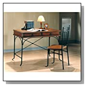 Distressed Oak Home Writing Desk with Chair