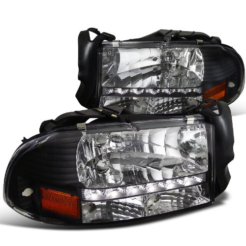 Dodge Dakota Durango Slt Led Headlights 1pc Black