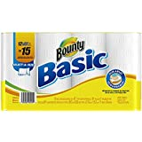 Bounty Basic Paper Towels 12 Select a Size Large Rolls (Select a size Basic Paper Towels)