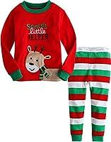 Vaenait Baby Infant Kids 12M-7T Chirstmas X-Mas Sleepwear Pajama Set Little Rudolph