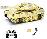 #5: Webby Remote Controlled Tank with Music and Lights, Colour May Vary