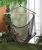 Brown Cotton Rope Swing Hammock Hanging Outdoor Chair Garden Patio Yard Porch