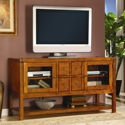 Cheap Arcadia 56″ TV Stand in Distressed Brown Pecan (30917V-RTA)