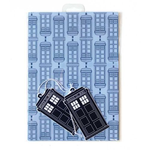 Official Doctor Who - Tardis Gift Wrap Set - 2 Sheets and 2 Tags