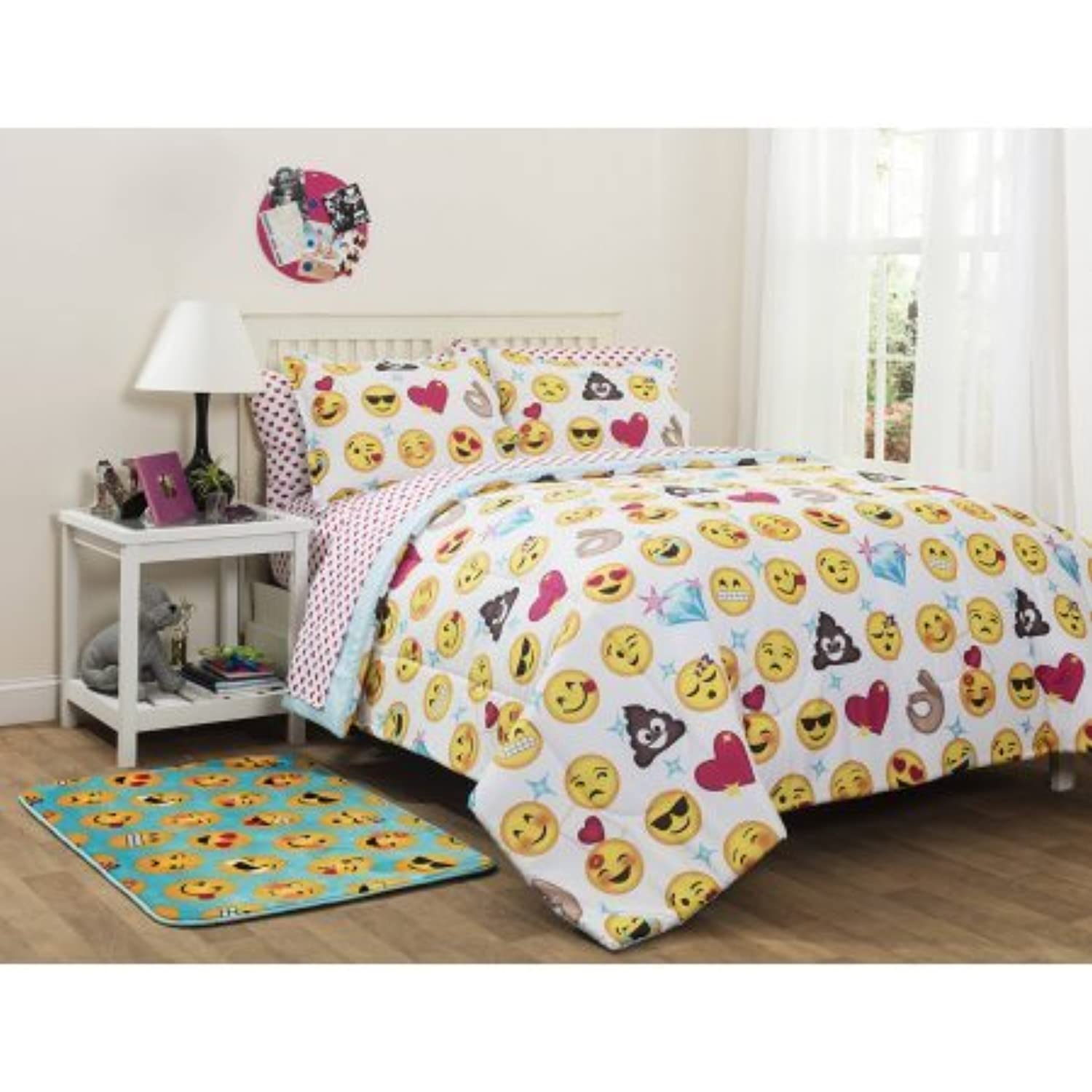 Emoji bed comfortor bedding sets full size for Full bed bedroom sets