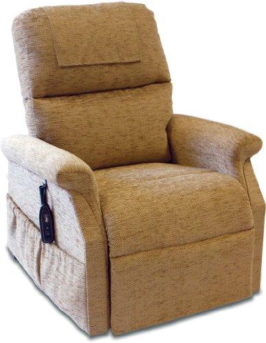 Classic Electric Riser Recliner Chair in Herringbone Cocoa