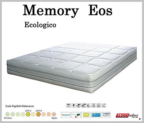 Materasso Memory Mod. Eos Sfoderabile in Aloe Altezza Cm. 22 -Ergorelax -matrimoniale - 160 cm x 200 cm