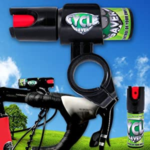 Cycle Saver Pepper Spray with Easy Install Bicycle Mount for Bicycles and Mountain Bikes from Personal Savers