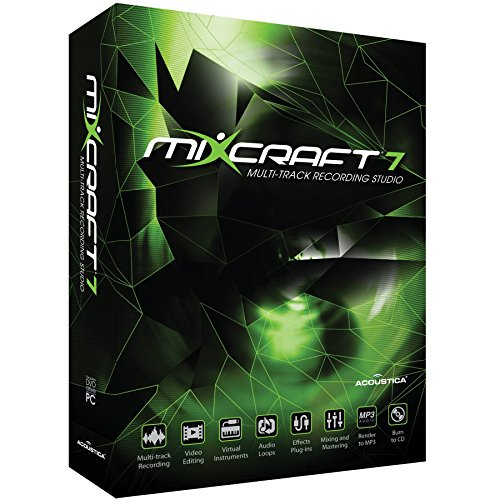 ACOUSTICA 動画編集機能付き音楽制作ソフト Mixcraft 7(ミックスクラフトセブン)