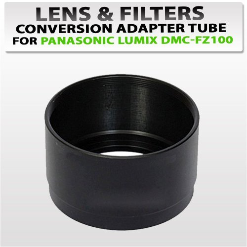 Lens and Filters Conversion Adapter Tube for Panasonic Dmc-fz100 Digital Camera
