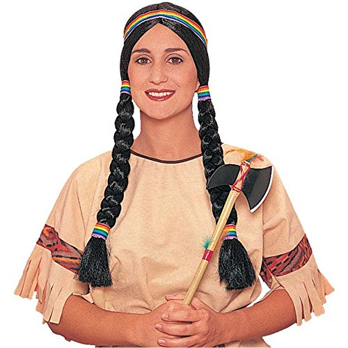 Indian Squaw Braided Adult Wig