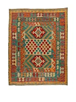 Design Community By Loomier Alfombra Kelim Kaudani (Verde/Multicolor)