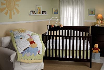 Playful Pooh 3 Piece Crib Bedding Set by Disney