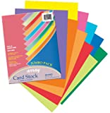 Pacon ARY CS HYPR AST 8.5 X 11 Inches Ten Color Card Stock Assortment (101199)