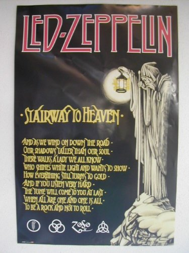 Led Zeppelin Poster Stairway To Heaven Color