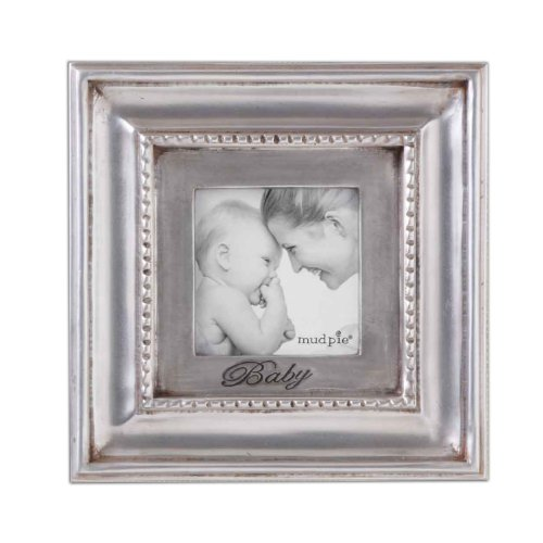 Mud Pie Baby Square Dentil Photo Frame - 1