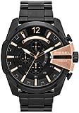 Diesel Herren-Armbanduhr XL Mega Chief Chronograph Quarz Edelstahl beschichtet DZ4309