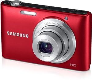Samsung ST72 Digitalkamera (16,2 Megapixel, 5-fach opt. Zoom, 7,5 cm (3 Zoll) Display, bildstabilisiert, micro-SD Slot) rot