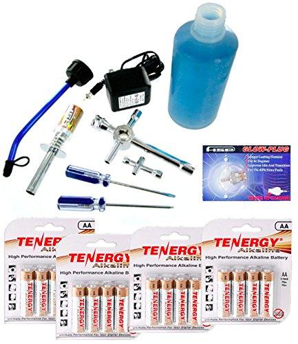 Redcat Racing Nitro Kit Pro - 80142A Nitro RC Starter Kit - Medium Glow Plug - 16 Tenergy AA Batteries for Nitro RC Cars - Trucks - Buggys