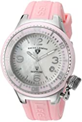 Swiss Legend Women's 'Neptune' Quartz Stainless Steel and Silicone Automatic Watch, Color:Pink (Model: 11844-PKWSA)