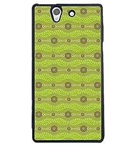 Printvisa Light Green Zig Zag Pattern Back Case Cover for Sony Xperia Z::Sony Xperia Z L36h