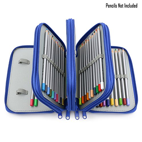 sumnacon-72-trous-trousse-sac-de-crayon-pour-lecole-et-bureau-avec-grand-capacite-multi-couches-bleu