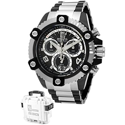 Invicta Men's 13048 Jason Taylor Chronograph Black Textured Dial Two-Tone Stainless Steel Watch
