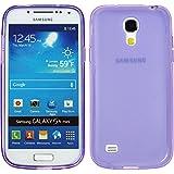 PhoneNatic Samsung Galaxy S4 Mini Hülle Silikon lila Frosted Tasche Galaxy S4 Mini Case + Schutzfolien