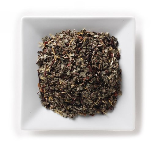 Mahamosa Herbal Herb Tea Blend And Tea Filter Set: 8 Oz Winter Berries Herbal Tea, 100 Loose Leaf Tea Filters (Bundle- 2 Items)(Tea Ingredients: Strawberry Leaves, Raspberry Leaves, Rose Hips, Marigolds, Hibiscus And Berry Flavoring)