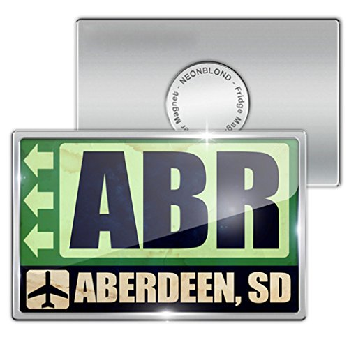 Fridge Magnet Airportcode ABR Aberdeen, SD - Neonblond (Abr Fridge compare prices)