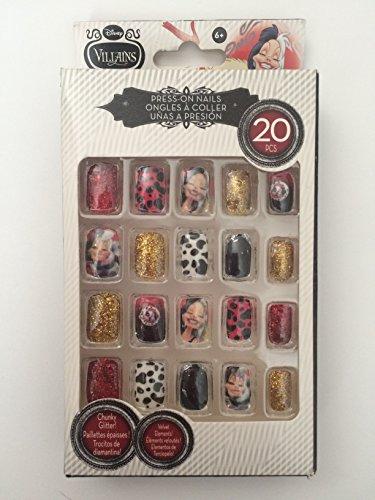 Disney Villains Press on Nails (Cruella (Red)) (Disney Villains Nail Polish compare prices)