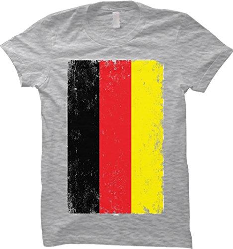 Oversize German Flag WOMENS T-shirt (Medium, LIGHT GRAY)